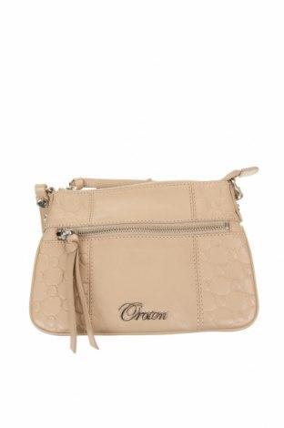 Дамска чанта Oroton, Цвят Бежов, Естествена кожа, Цена 61,43лв.