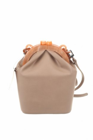 Дамска чанта Reserved, Цвят Бежов, Еко кожа, Цена 79,00лв.