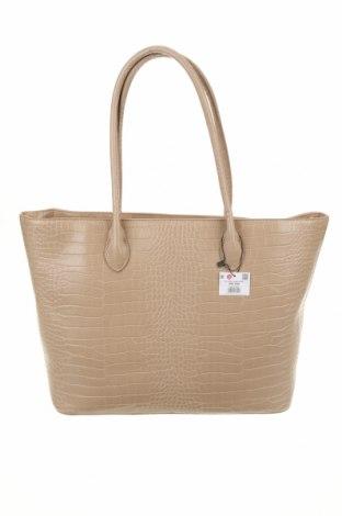 Дамска чанта Reserved, Цвят Бежов, Еко кожа, Цена 52,00лв.
