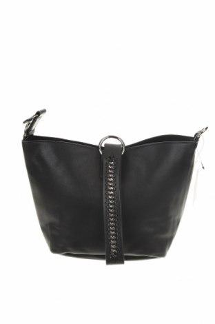 Дамска чанта Reserved, Цвят Черен, Еко кожа, Цена 59,00лв.