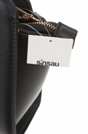 Дамска чанта Sinsay, Цвят Черен, Еко кожа, Цена 21,07лв.