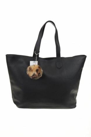 Γυναικεία τσάντα Sinsay, Χρώμα Μαύρο, Δερματίνη, Τιμή 11,56€