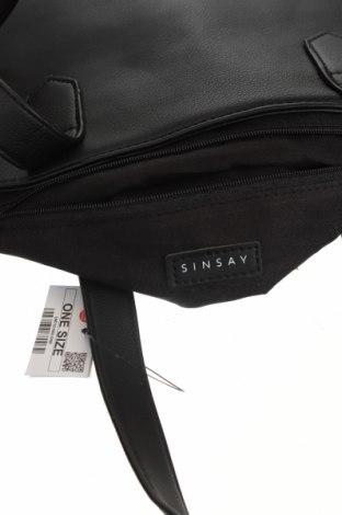 Дамска чанта Sinsay, Цвят Черен, Еко кожа, Цена 25,37лв.