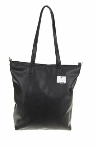 Дамска чанта Sinsay, Цвят Черен, Еко кожа, Цена 59,00лв.