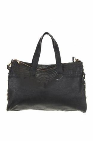Дамска чанта Sinsay, Цвят Черен, Еко кожа, Цена 52,00лв.