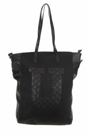Дамска чанта Sinsay, Цвят Черен, Еко кожа, текстил, Цена 59,00лв.