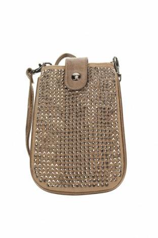 Дамска чанта Taking Shape, Цвят Бежов, Еко кожа, текстил, Цена 17,64лв.