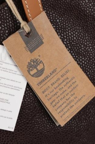 Дамска чанта Timberland, Цвят Кафяв, Еко кожа, естествена кожа, Цена 164,25лв.