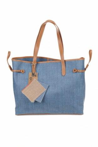 Дамска чанта Timberland, Цвят Син, Текстил, еко кожа, Цена 119,25лв.