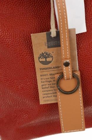 Дамска чанта Timberland, Цвят Червен, Еко кожа, естествена кожа, Цена 72,27лв.