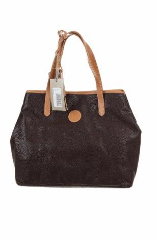 Дамска чанта Timberland, Цвят Кафяв, Еко кожа, естествена кожа, Цена 65,70лв.