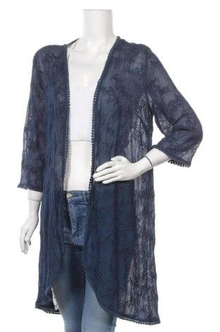 Дамска жилетка Blue Illusion, Размер XL, Цвят Син, Вискоза, Цена 26,62лв.