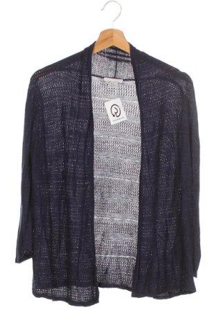 Дамска жилетка H&M, Размер XS, Цвят Син, 95% вискоза, 56% коприна, Цена 11,90лв.