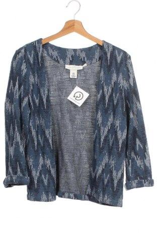 Дамска жилетка H&M L.O.G.G., Размер XS, Цвят Син, 63% памук, 31% полиестер, 6% вискоза, Цена 18,75лв.
