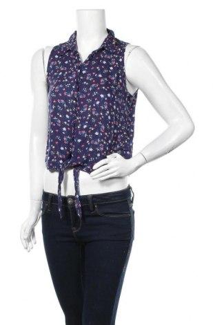 Γυναικείο πουκάμισο Ann Christine, Μέγεθος S, Χρώμα Μπλέ, Βισκόζη, Τιμή 11,04€