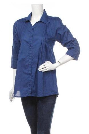 Дамска риза Atlas For Women, Размер S, Цвят Син, Памук, Цена 4,99лв.