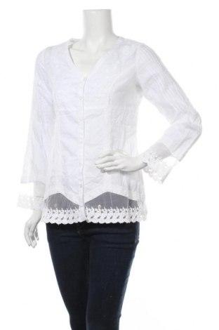 Дамска риза B.C. Best Connections, Размер S, Цвят Бял, 50% полиамид, 50% памук, Цена 17,96лв.