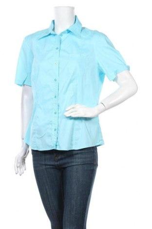 Γυναικείο πουκάμισο Bianca, Μέγεθος L, Χρώμα Μπλέ, 66% βαμβάκι, 31% πολυαμίδη, 3% ελαστάνη, Τιμή 8,18€
