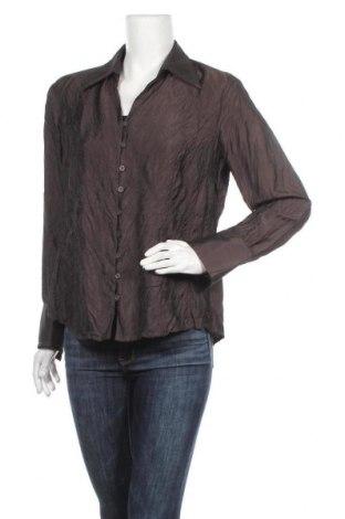 Γυναικείο πουκάμισο Bianca, Μέγεθος L, Χρώμα Καφέ, 55% βισκόζη, 45% πολυεστέρας, Τιμή 8,77€