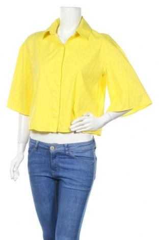 Дамска риза COS, Размер M, Цвят Жълт, 75% памук, 22% полиамид, 3% еластан, Цена 40,32лв.