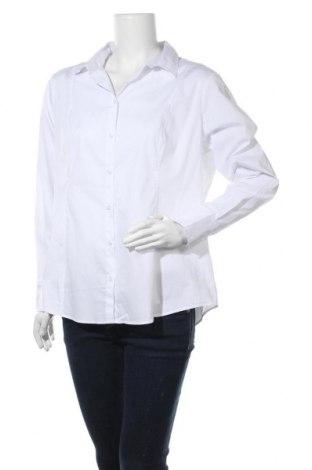 Γυναικείο πουκάμισο Charles Vogele, Μέγεθος XXL, Χρώμα Λευκό, 67% βαμβάκι, 28% πολυεστέρας, 5% ελαστάνη, Τιμή 16,37€