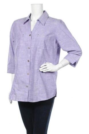 Γυναικείο πουκάμισο Collection L, Μέγεθος L, Χρώμα Βιολετί, Βαμβάκι, Τιμή 10,23€