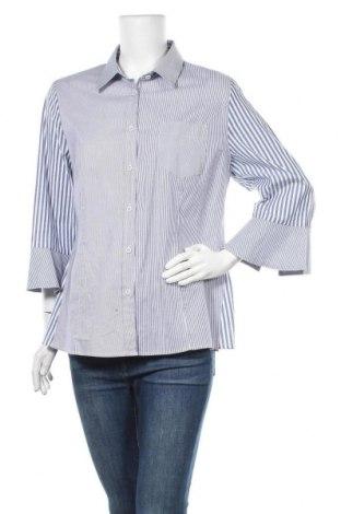 Дамска риза Elena Miro, Размер XL, Цвят Син, 97% памук, 3% еластан, Цена 23,21лв.