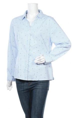 Γυναικείο πουκάμισο Flash Woman, Μέγεθος XL, Χρώμα Μπλέ, 97% βαμβάκι, 3% ελαστάνη, Τιμή 9,35€