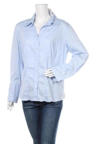 Дамска риза Hirsch, Размер XXL, Цвят Син, 73% памук, 23% полиамид, 4% еластан, Цена 19,85лв.