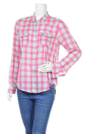 Дамска риза Hollister, Размер L, Цвят Многоцветен, Памук, Цена 17,85лв.