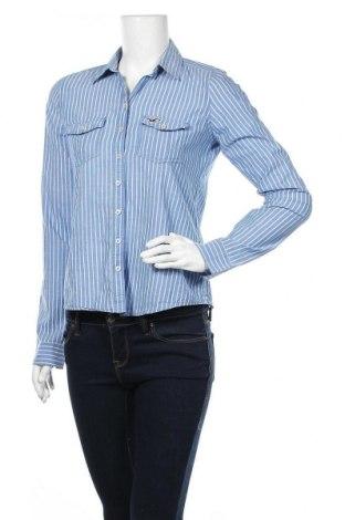 Дамска риза Hollister, Размер S, Цвят Син, Памук, Цена 16,96лв.