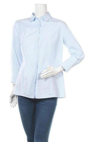 Дамска риза Hugo Boss, Размер L, Цвят Син, Памук, Цена 259,00лв.