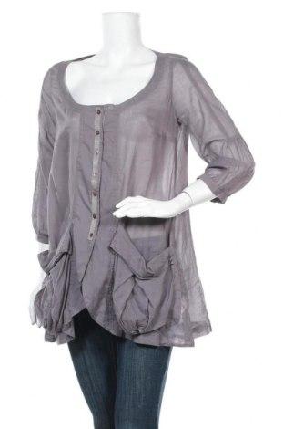 Γυναικείο πουκάμισο Lauren Vidal, Μέγεθος S, Χρώμα Γκρί, Βαμβάκι, Τιμή 7,73€