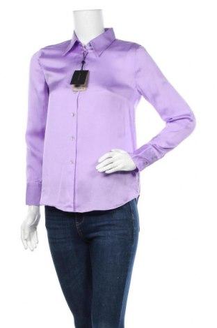 Дамска риза Massimo Dutti, Размер S, Цвят Лилав, 75% вискоза, 25% лиосел, Цена 48,95лв.