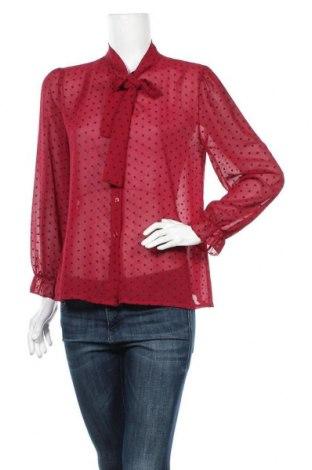 Дамска риза My Style, Размер L, Цвят Червен, 96% полиестер, 4% еластан, Цена 17,85лв.