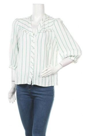 Дамска риза Naf Naf, Размер L, Цвят Бял, 94% вискоза, 6% акрил, Цена 64,00лв.