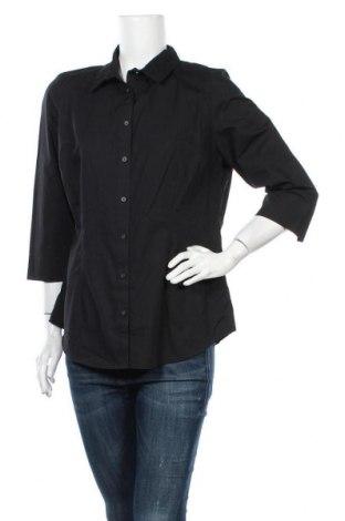 Γυναικείο πουκάμισο Papaya, Μέγεθος XL, Χρώμα Μαύρο, 55% βαμβάκι, 45% πολυεστέρας, Τιμή 13,16€