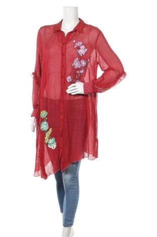 Дамска риза Peace + Love, Размер M, Цвят Червен, Вискоза, Цена 69,00лв.