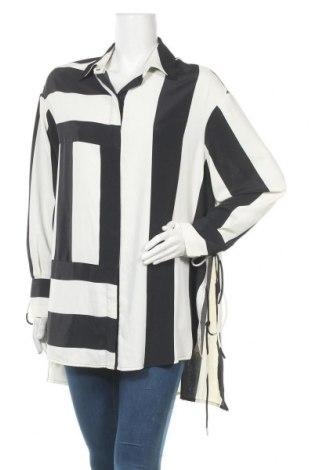 Дамска риза Topshop, Размер XL, Цвят Черен, Полиестер, Цена 72,00лв.