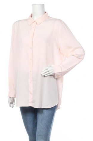 Дамска риза Uniqlo, Размер XXL, Цвят Розов, 76% вискоза, 24% полиестер, Цена 12,97лв.