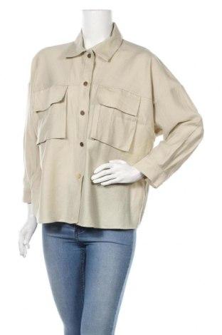 Дамска риза Zara, Размер M, Цвят Бежов, Цена 21,00лв.