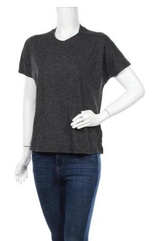 Γυναικεία αθλητική μπλούζα Adidas, Μέγεθος M, Χρώμα Γκρί, 58% βαμβάκι, 21% βισκόζη, 21% πολυεστέρας, Τιμή 11,69€
