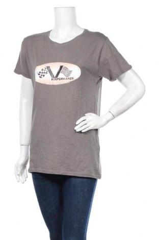 Дамска тениска, Размер M, Цвят Сив, Памук, Цена 3,94лв.