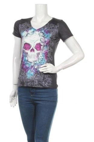 Дамска тениска, Размер S, Цвят Многоцветен, 88% полиестер, 12% еластан, Цена 6,25лв.