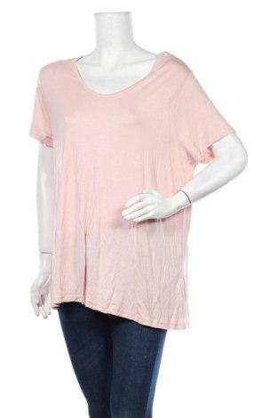 Дамска тениска, Размер XXL, Цвят Розов, 50% модал, 50% вискоза, Цена 19,11лв.
