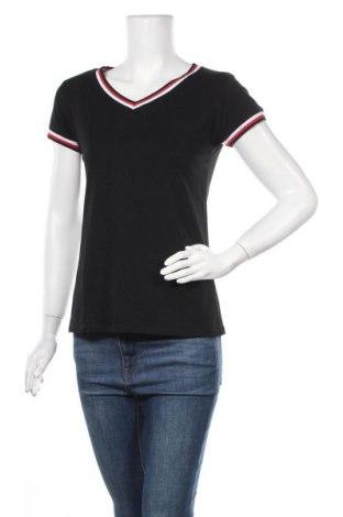 Дамска тениска, Размер M, Цвят Черен, 95% памук, 5% еластан, Цена 14,96лв.