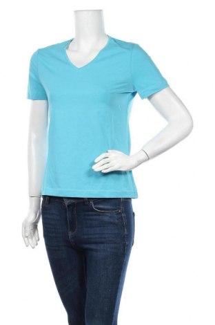 Дамска тениска, Размер L, Цвят Син, 92% памук, 8% еластан, Цена 5,88лв.