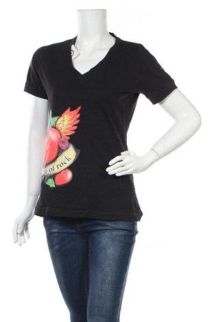 Дамска тениска, Размер M, Цвят Черен, Памук, Цена 15,12лв.