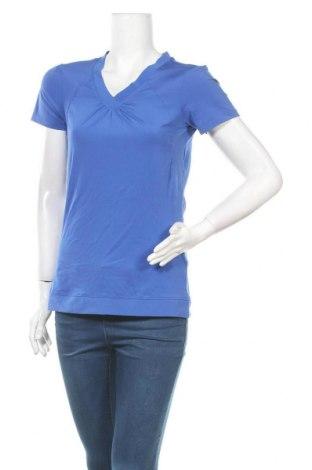 Дамска тениска Active By Tchibo, Размер S, Цвят Син, 86% полиестер, 14% еластан, Цена 12,29лв.