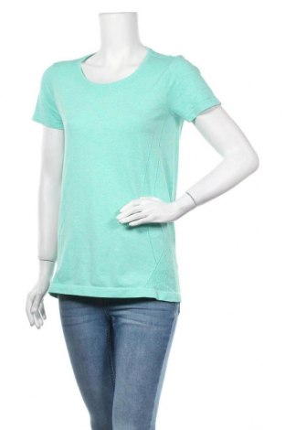 Дамска тениска Active By Tchibo, Размер M, Цвят Зелен, 61% полиестер, 39% полиамид, Цена 12,50лв.